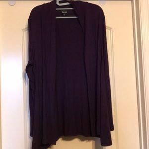 NWOT Simply Emma Purple Cardigan